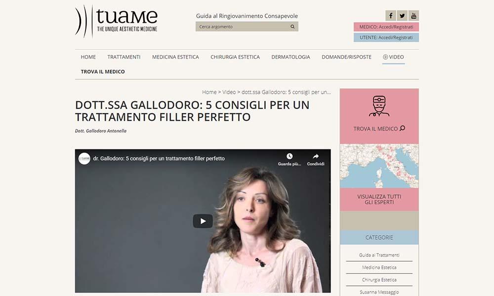 Dott.ssa Gallodoro: 5 consigli per un trattamente filler perfetto (Tuame)