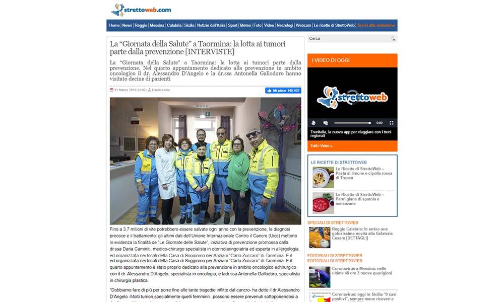 La Giornata della Salute a Taormina la lotta ai tumori parte dalla prevenzione